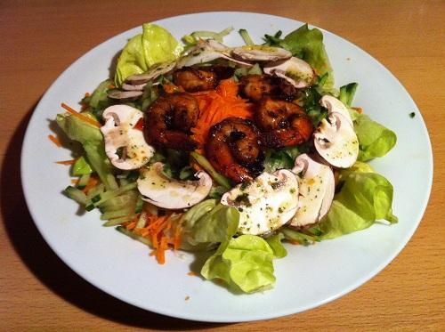 Garnelen mit Salat