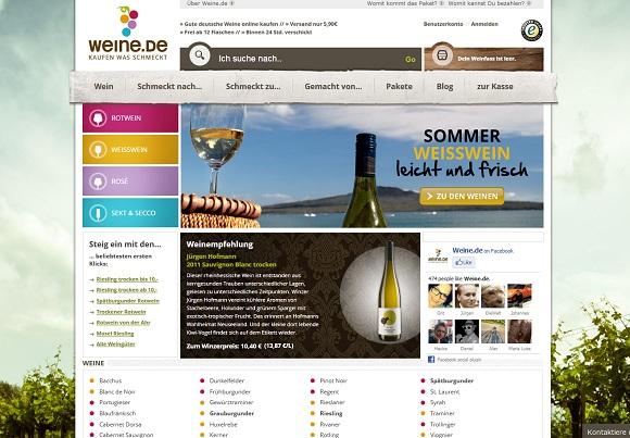 Weinprobe Weine.de