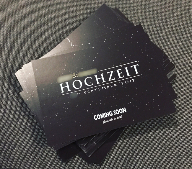 Star Wars Save the Date Hochzeit