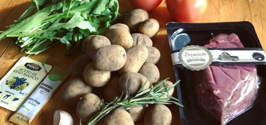 Rindersteak mit Rosmarinkartoffeln
