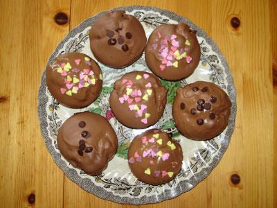 Milka cherry muffins