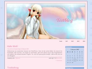 Chobits Pink 20 WordPress Theme Angis Blog